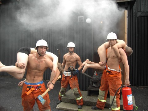 Hunk Firefighters   Anatomy of Man